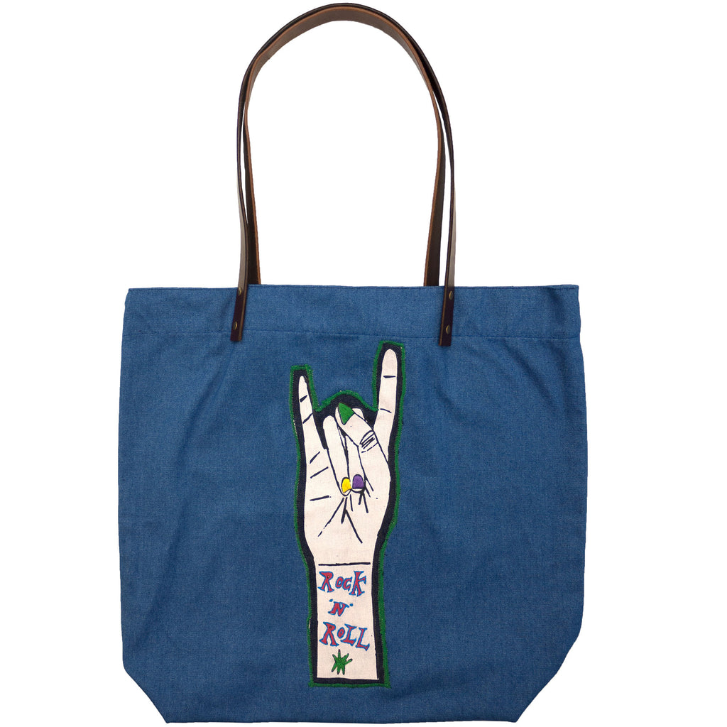 Daisy de Villeneuve embroidered grab bag