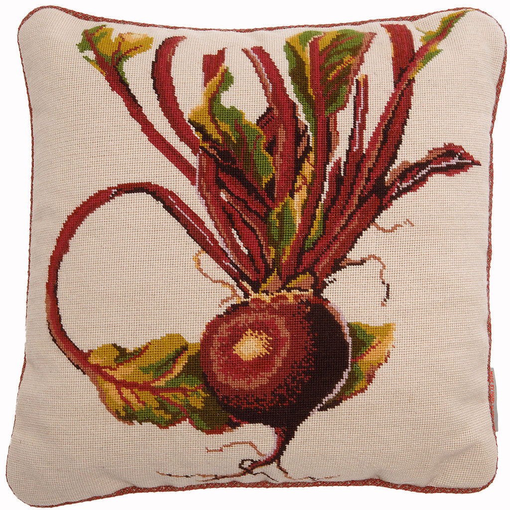 Beetroot Needlepoint Cushion Fine Cell Work