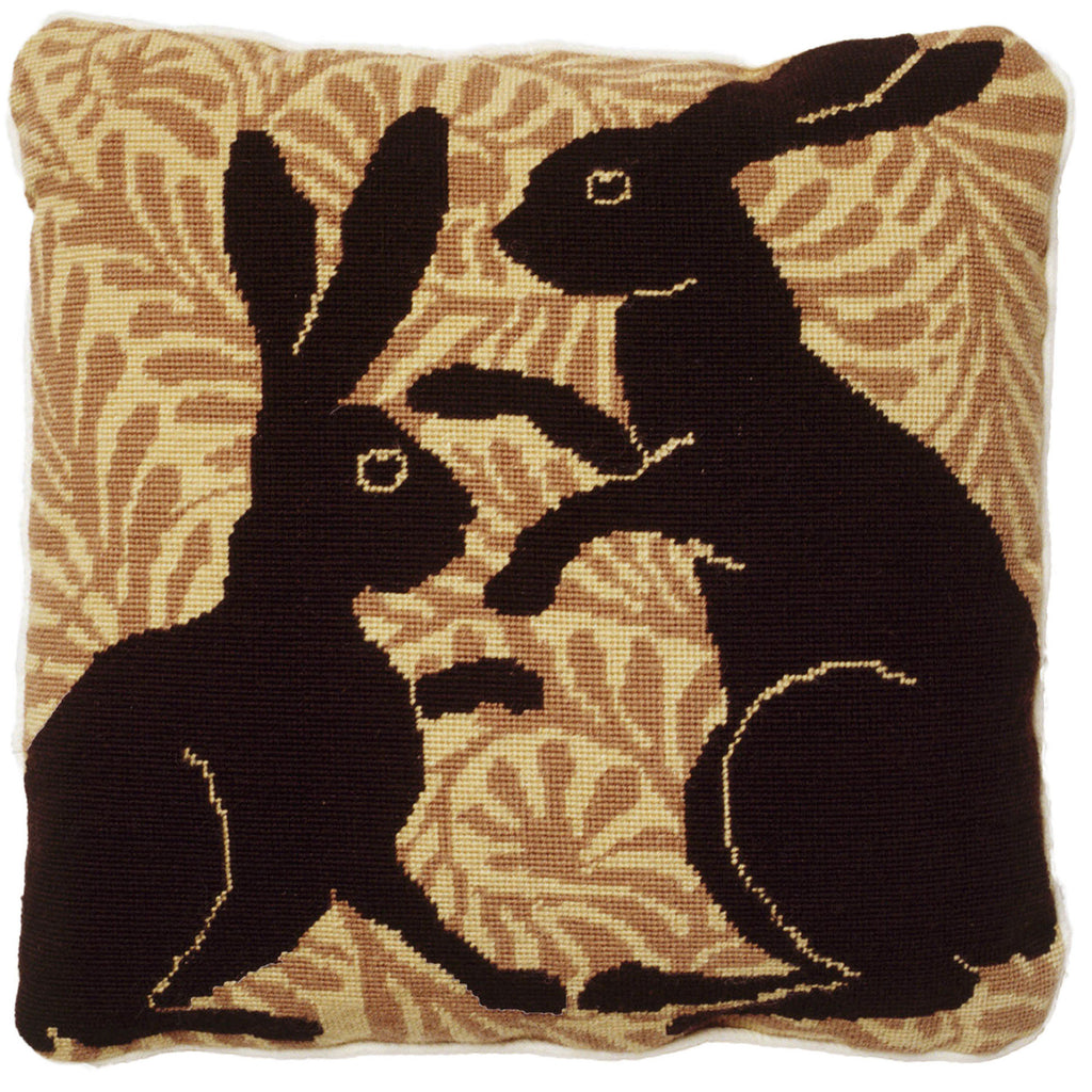 De Morgan Hares cushion