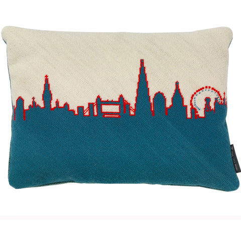 London Skyline - Red, White and Blue