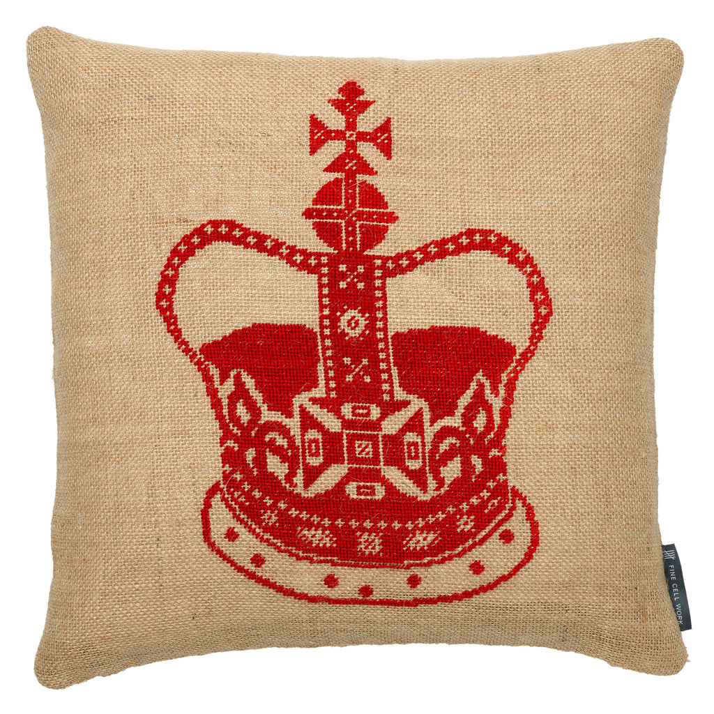 Small Crown cushion - Red
