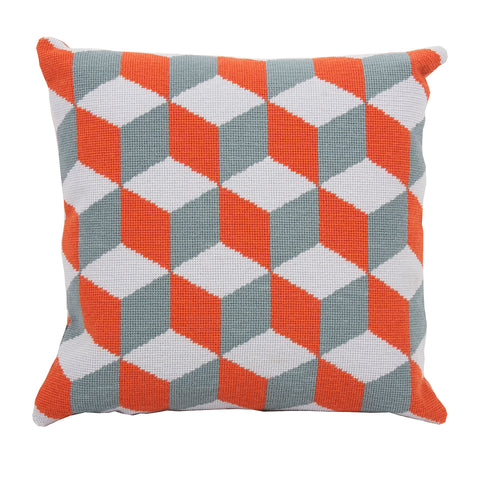 Pentreath & Hall Falling Cubes - Orange and Grey