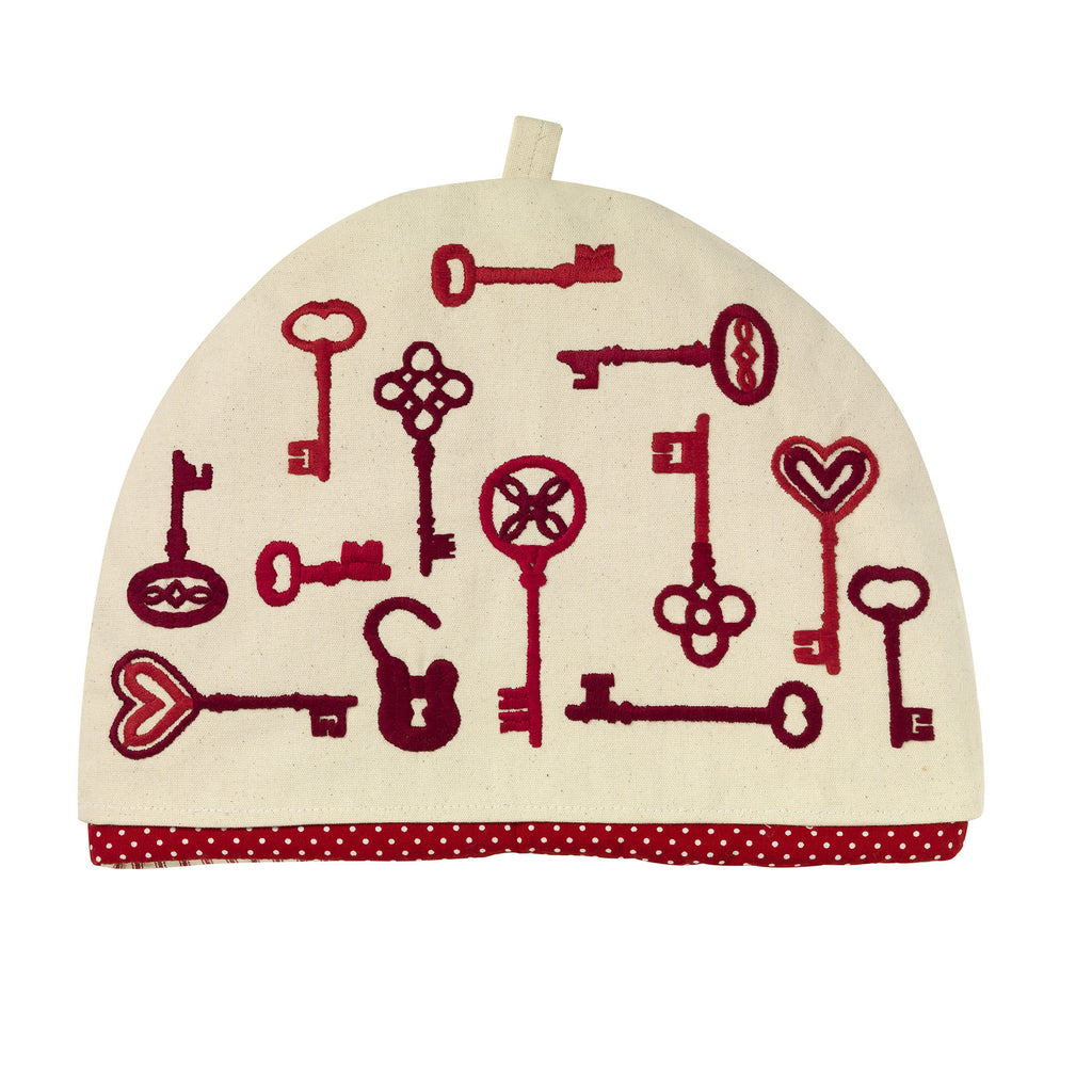 Keys Embroidered Tea Cosy Fine Cell Work