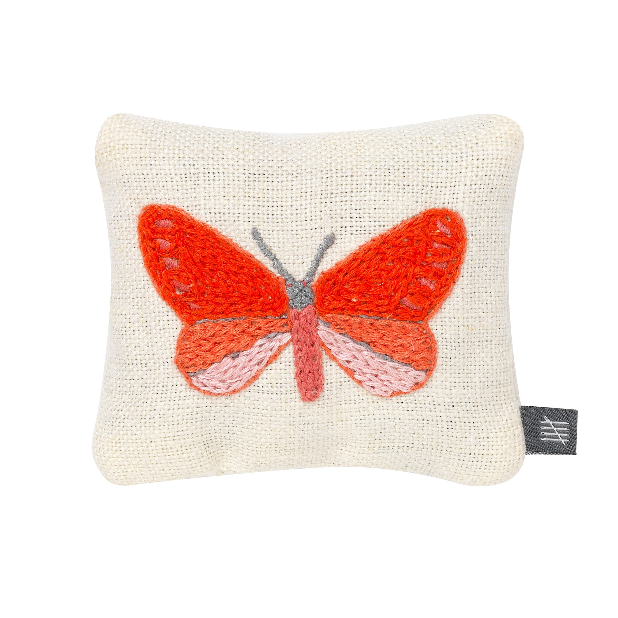 Lavender Bag - Butterflies - Pink on Cream Linen