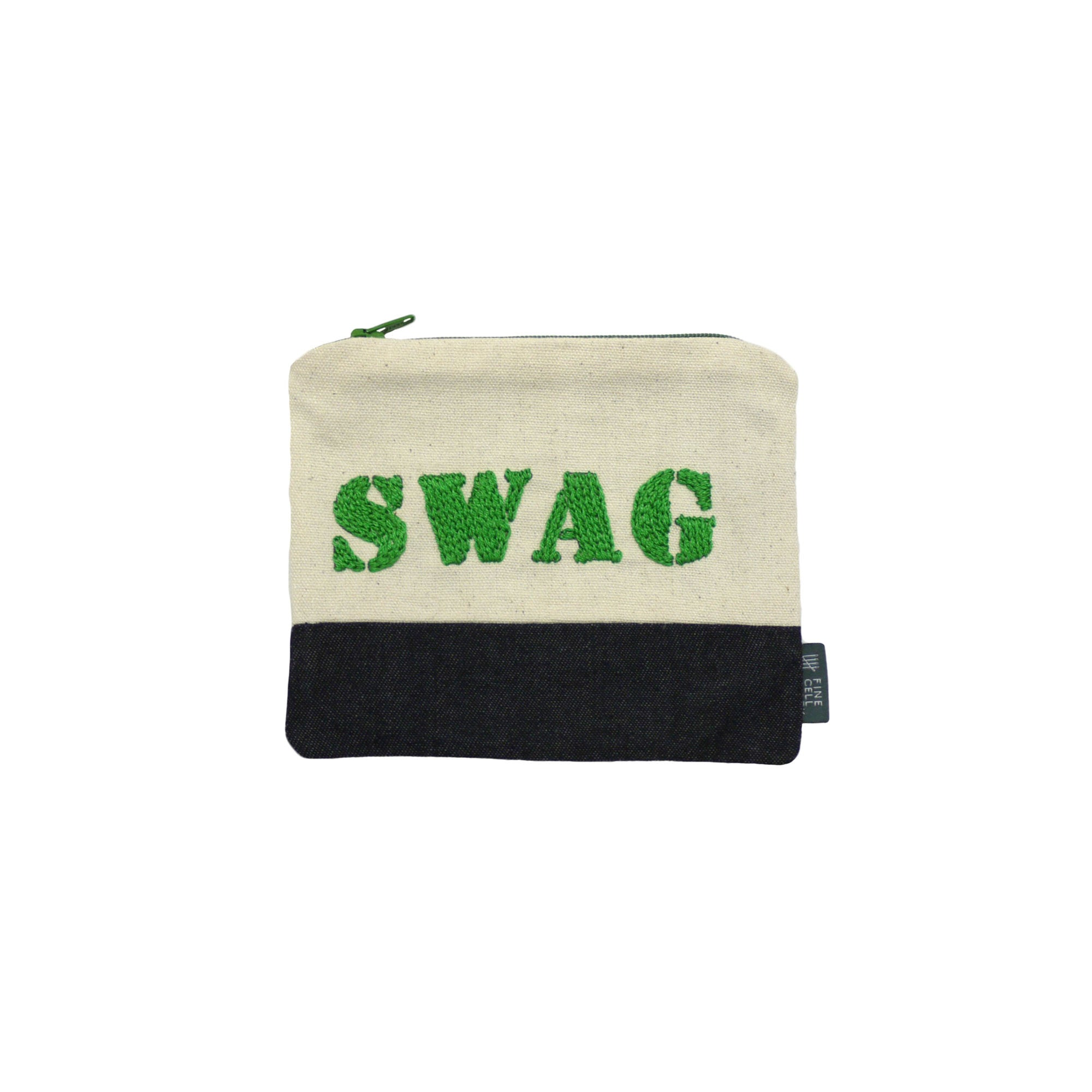 Swag Embroidered Purse Green
