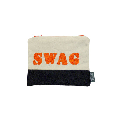 Swag Embroidered Purse Orange