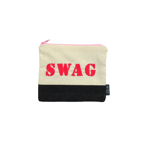 Swag Embroidered Purse Pink