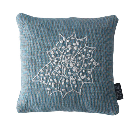 Melissa Wyndham Shell Star Embroidered Lavender Bag