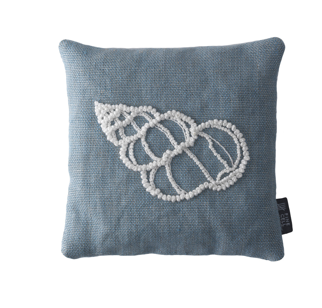 Melissa Wyndham Shell Cone Embroidered Lavender Bag