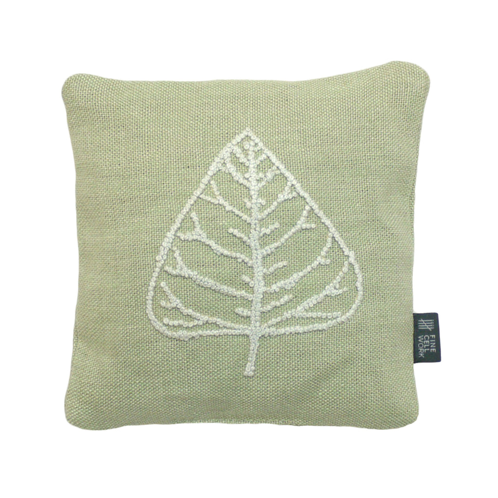 Leaf Hand-Embroidered Lavender Bag Melissa Wyndham for Fine Cell Work