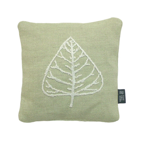 Leaf Embroidered Lavender Bag