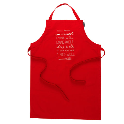 Red Organic Cotton Apron