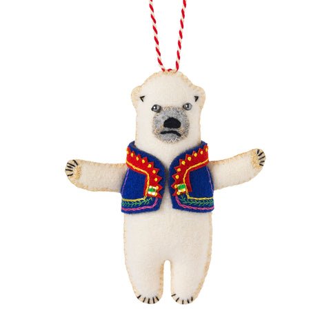 Handmade Christmas Decoration Harri the Polar Bear