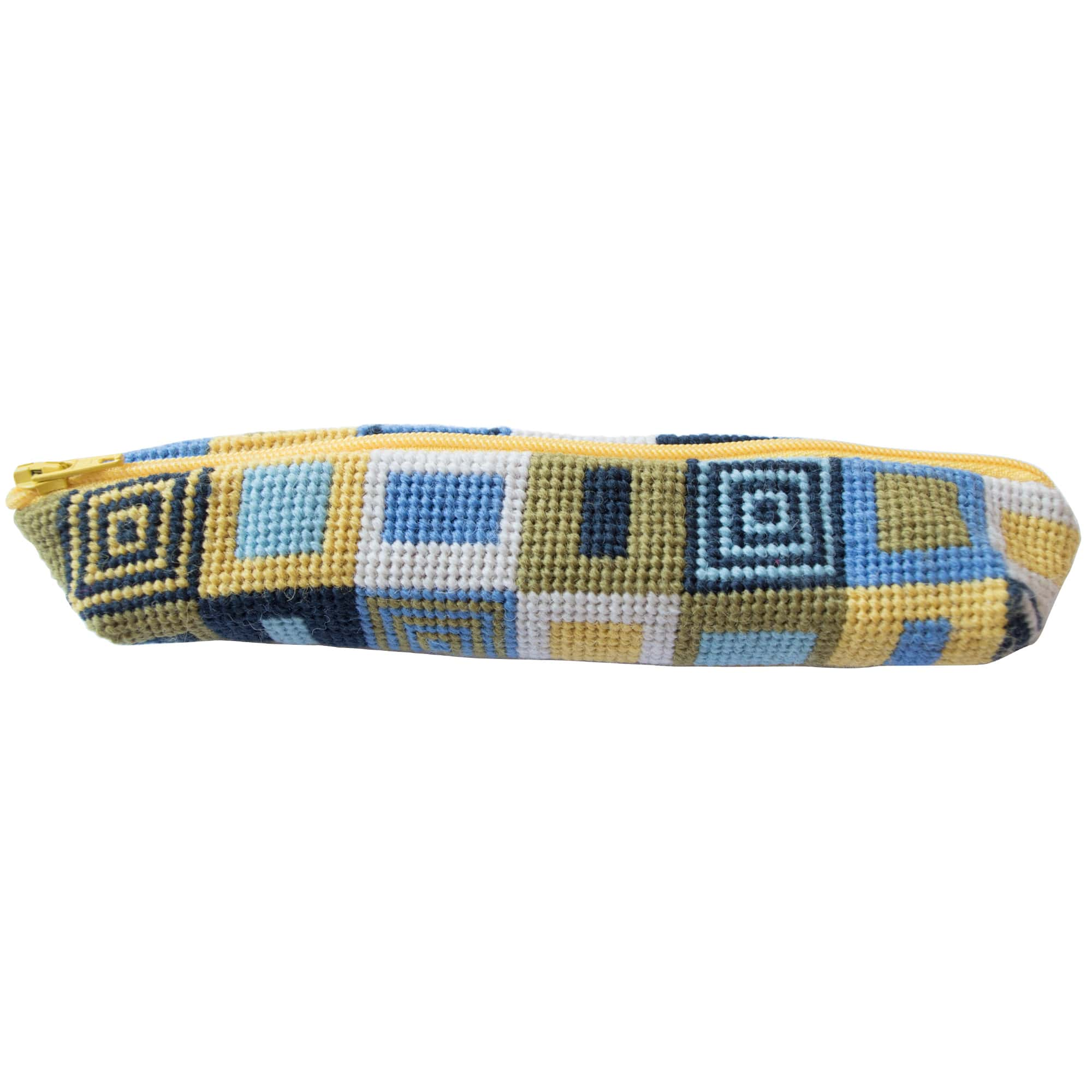 Geometric Pattern Needlepoint Pencilcase Fine Cell Work
