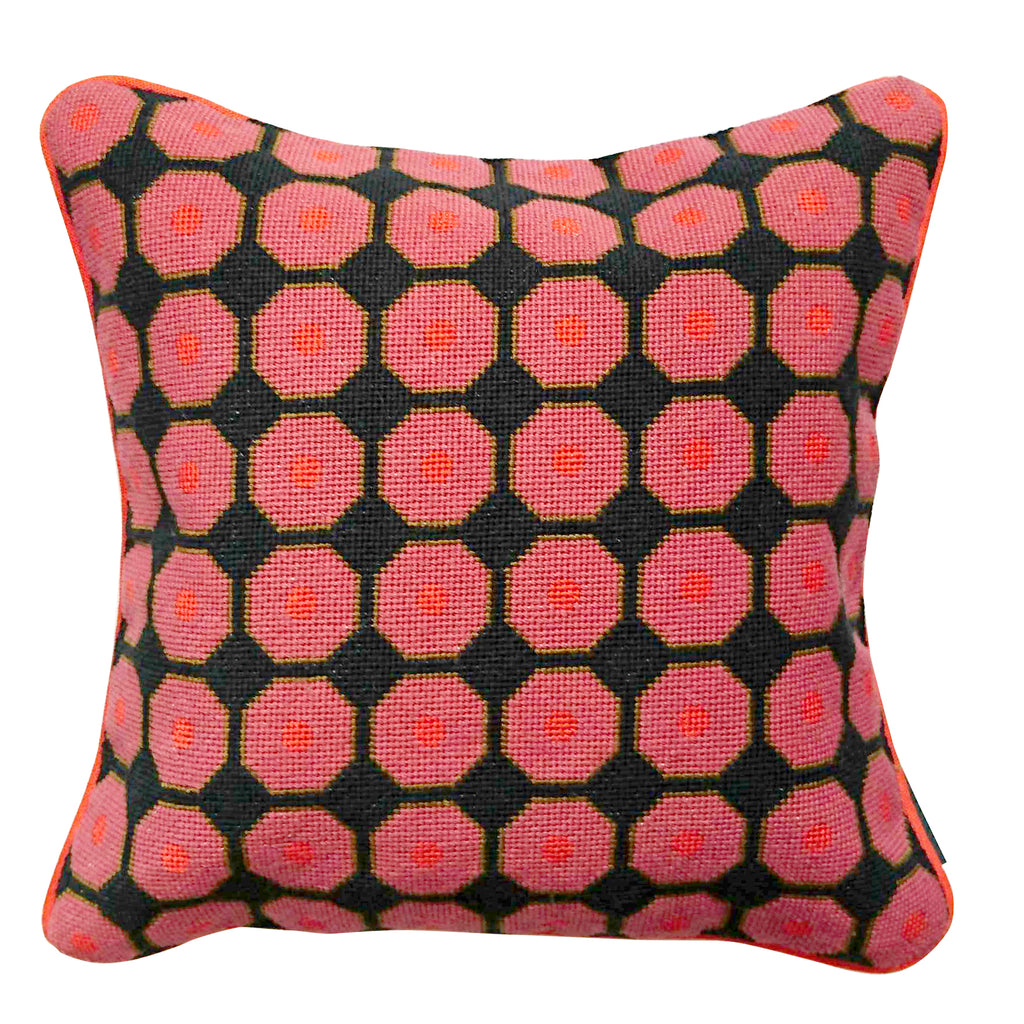 Neisha Crosland for Fine Cell Work Grape Cushion Radish Pink