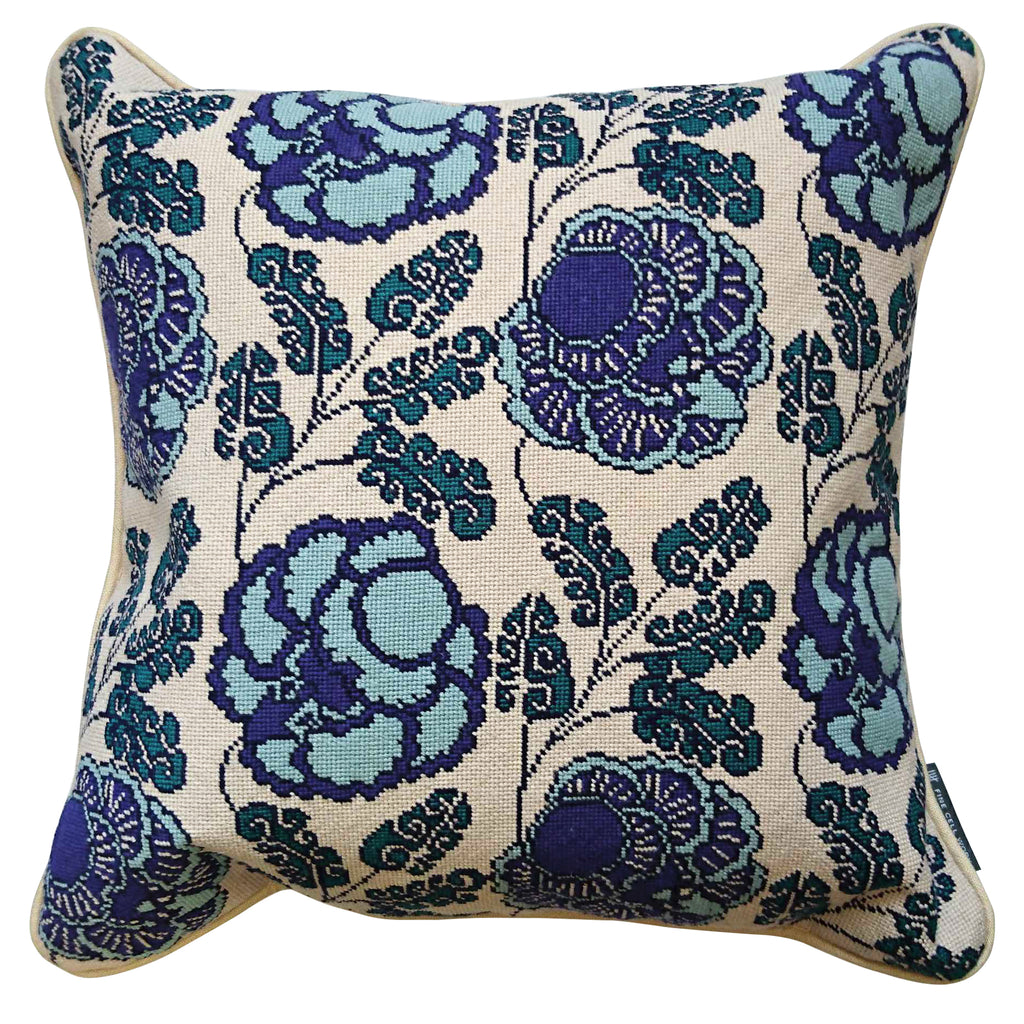 Neisha Crosland Tango Cushion Hyacinth Blue