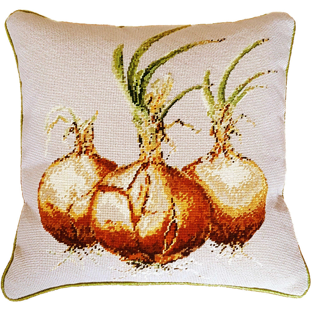Onion Needlepoint Cushion Fine Cell Work