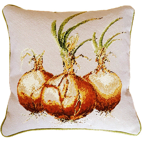 Onion Needlepoint Cushion