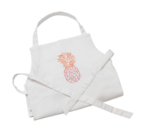Pineapple Apron Pink and Orange