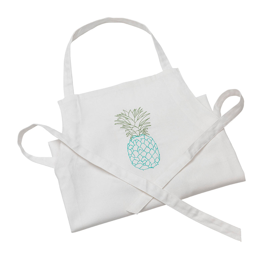 Pineapple Apron Blue and Green