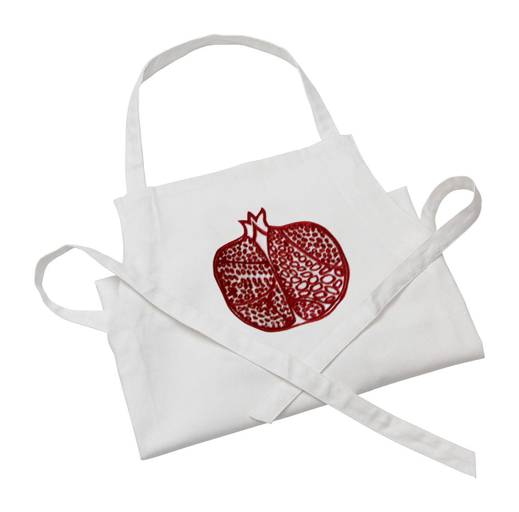 Pomegranate Apron Red Embroidered Fine Cell Work