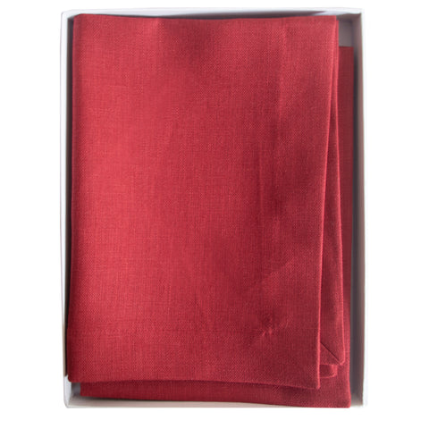 Pomegranate Linen Table Mats Red Fine Cell Work