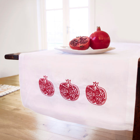 Pomegranate Table Runner Red
