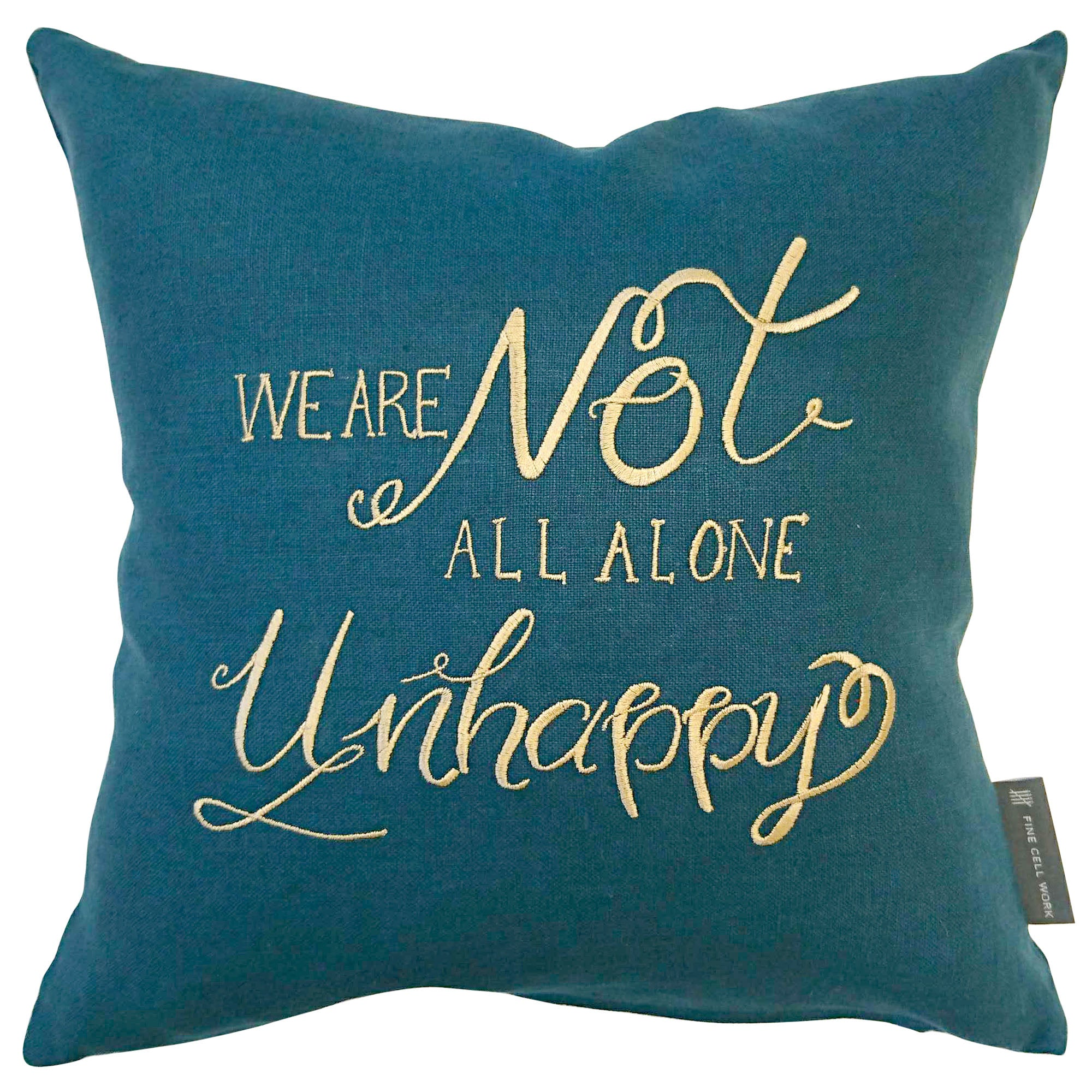 Simon Callow Shakespeare Quote 'We are not all alone unhappy' Cushion