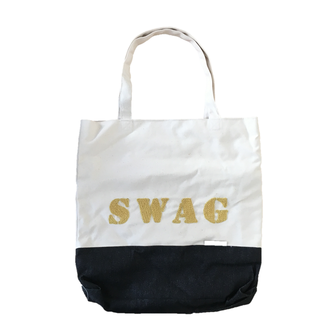 Swag Hand Embroidered Gold Bag Fine Cell Work