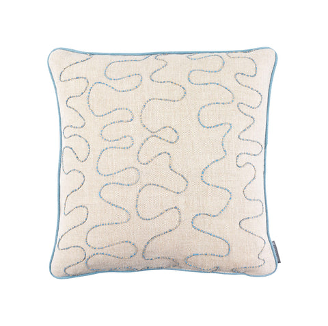 Melissa Wyndham Vermicelli Cushion Blue
