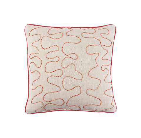 Melissa Wyndham Vermicelli Cushion Red