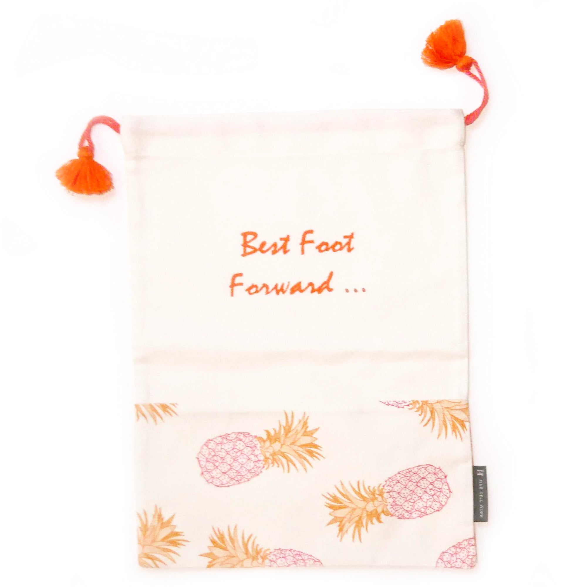Pineapple 'Best Foot Forward' Shoe Bag