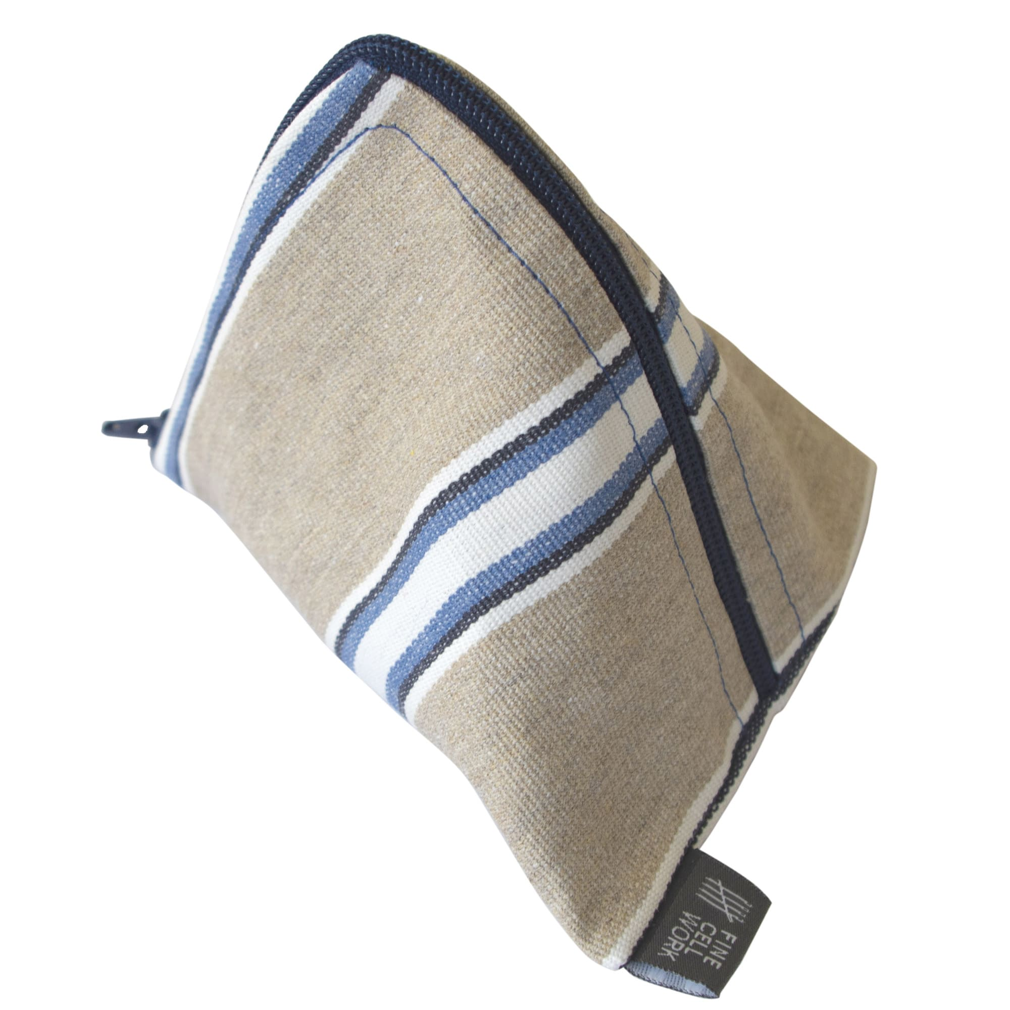 Cable Tidy Pouch in Wicket Indigo Fabric