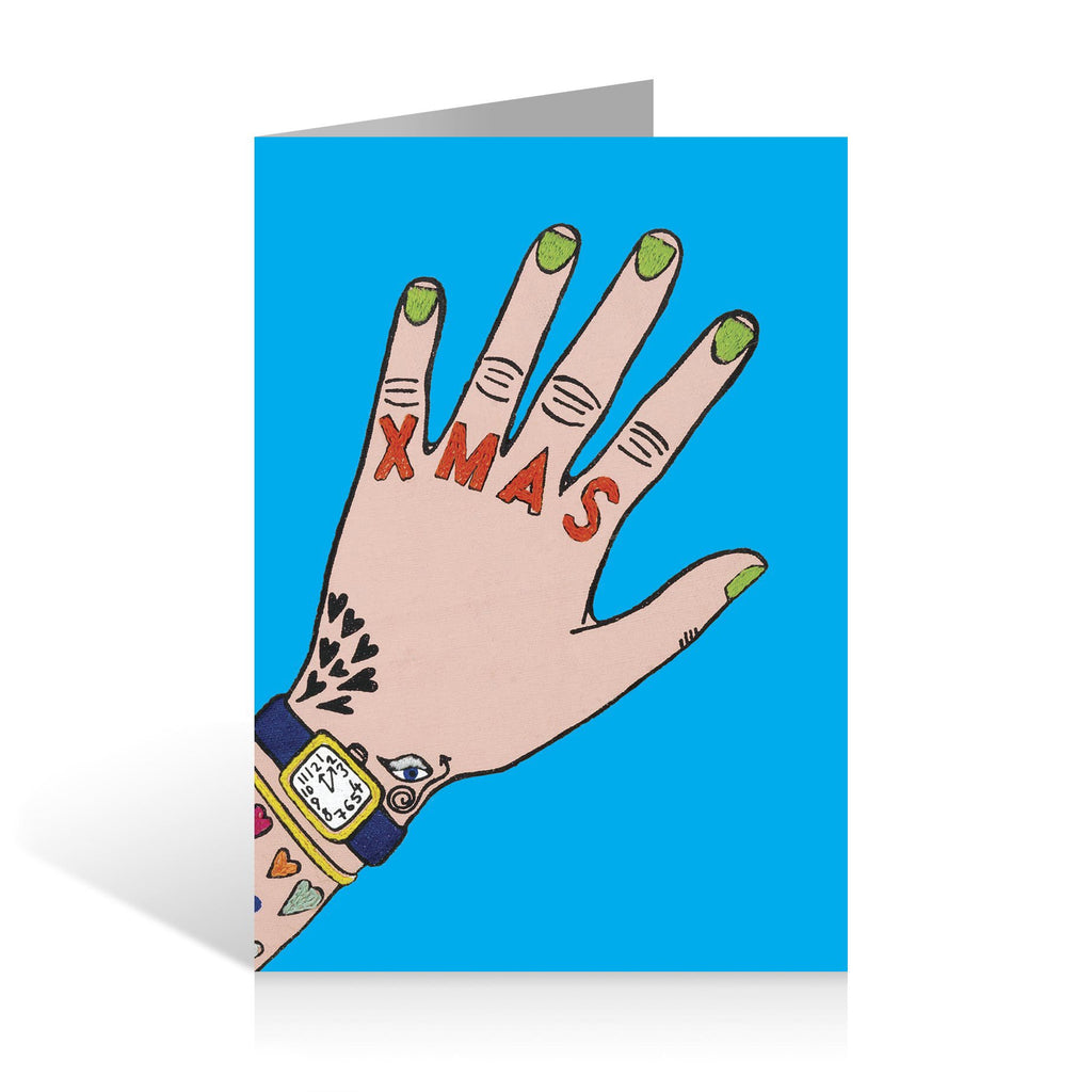 Christmas Cards Pack of 5 Daisy de Villeneuve Illustration Tattoo Hand Design Fine Cell Work
