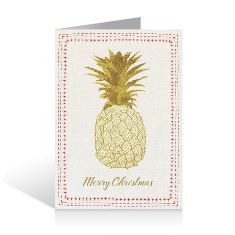 Christmas Cards (Pack of five) - Pineapple design