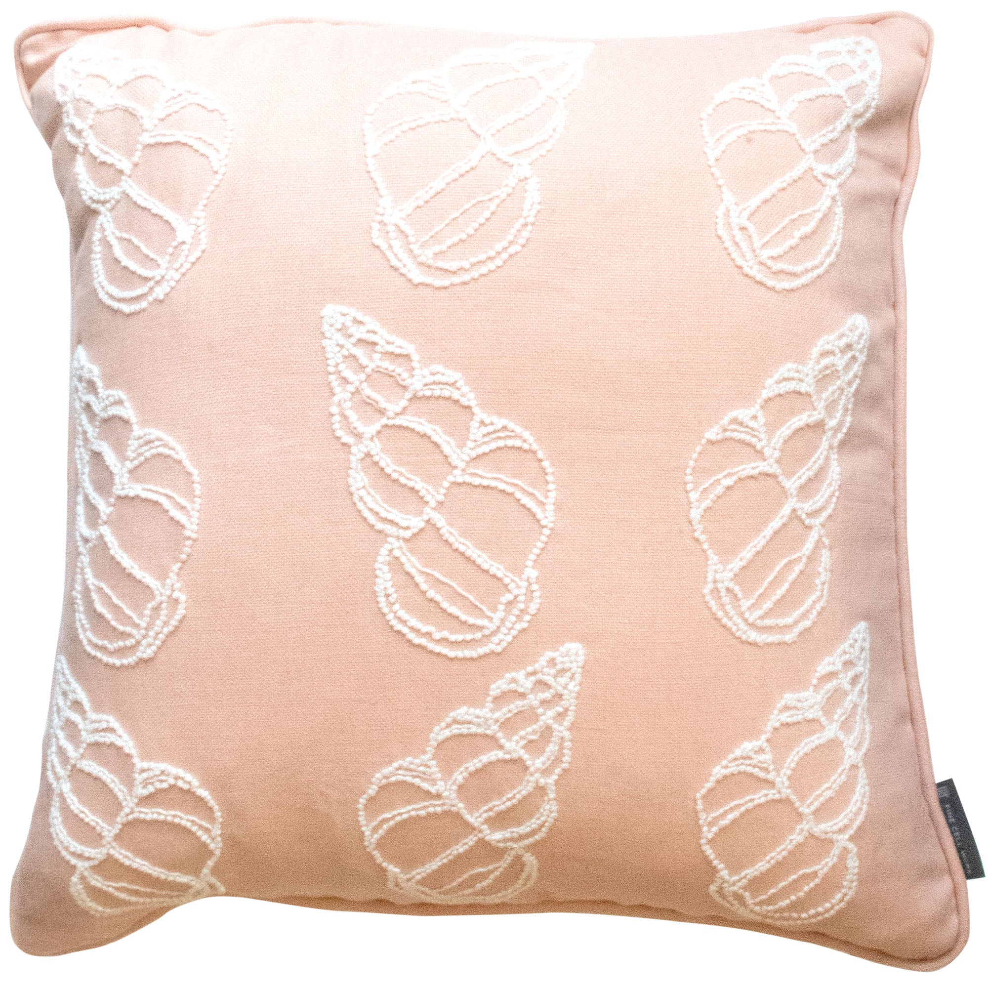 Fine Cell Work Melissa Wyndham Shell Cones Hand Embroided Cushion Pink