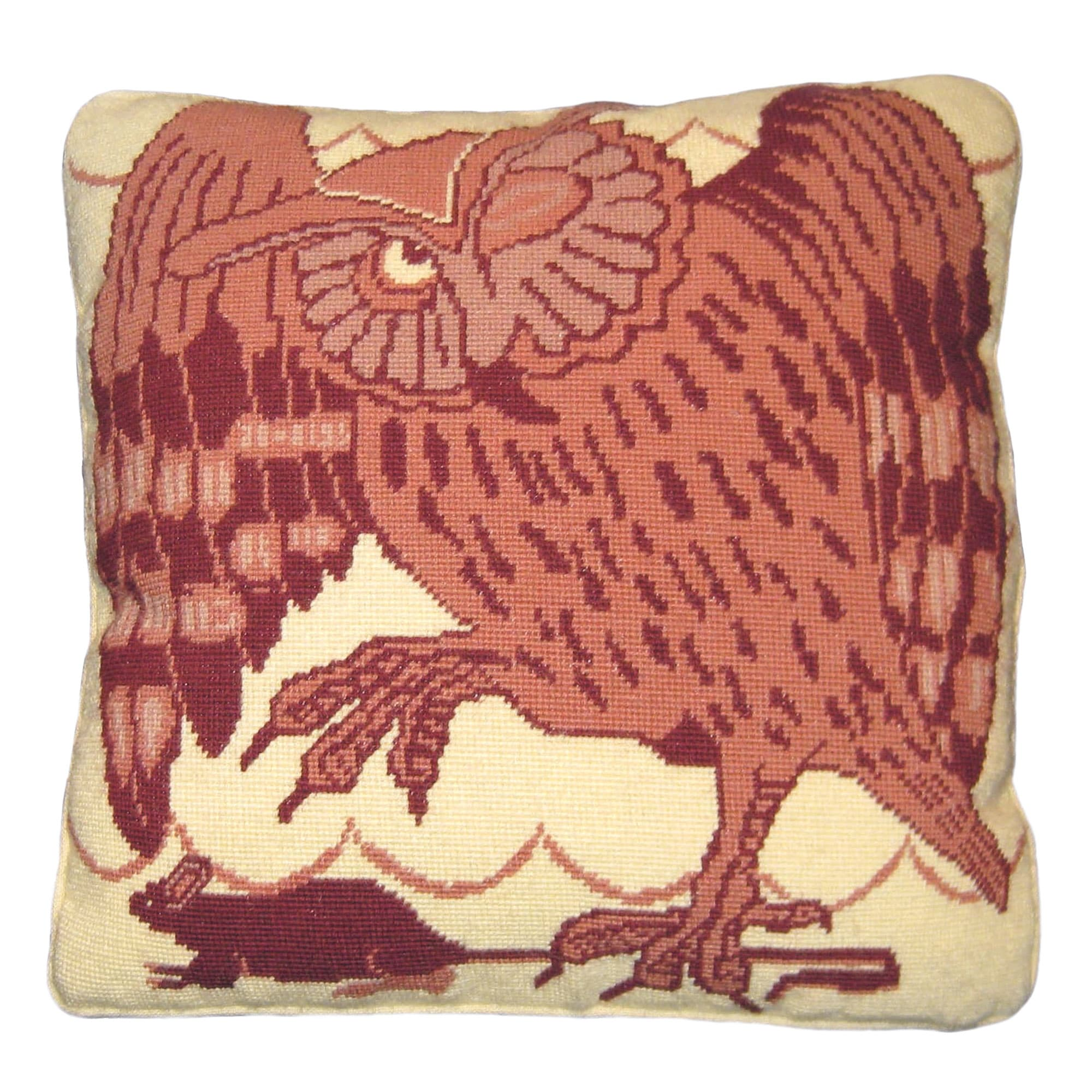 Fine Cell Work De Morgan Owl and Mouse Needlepoint Cushion Kit