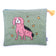 Penny the Dog Appliqué Tweed Pouch Large