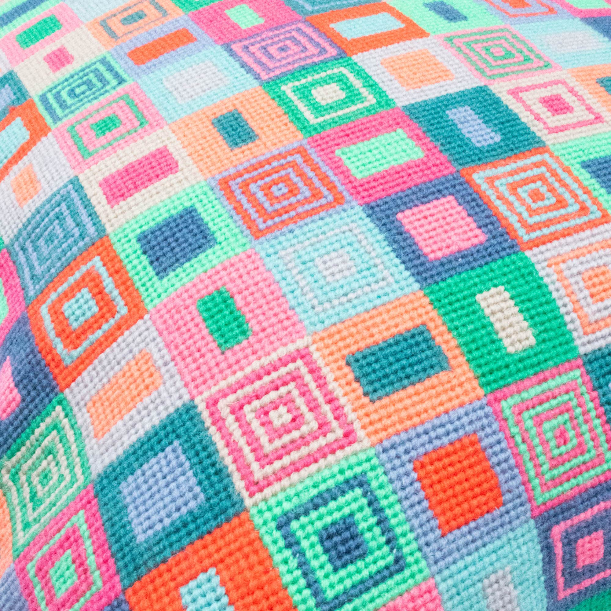 Geometric Multicoloured Cushion Large