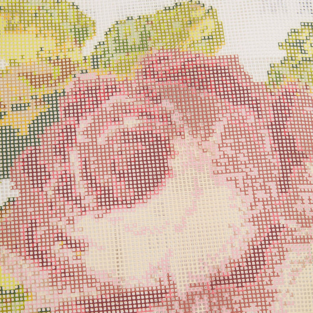 Fine Cell Work Rose Needlepoint Cushion Kit