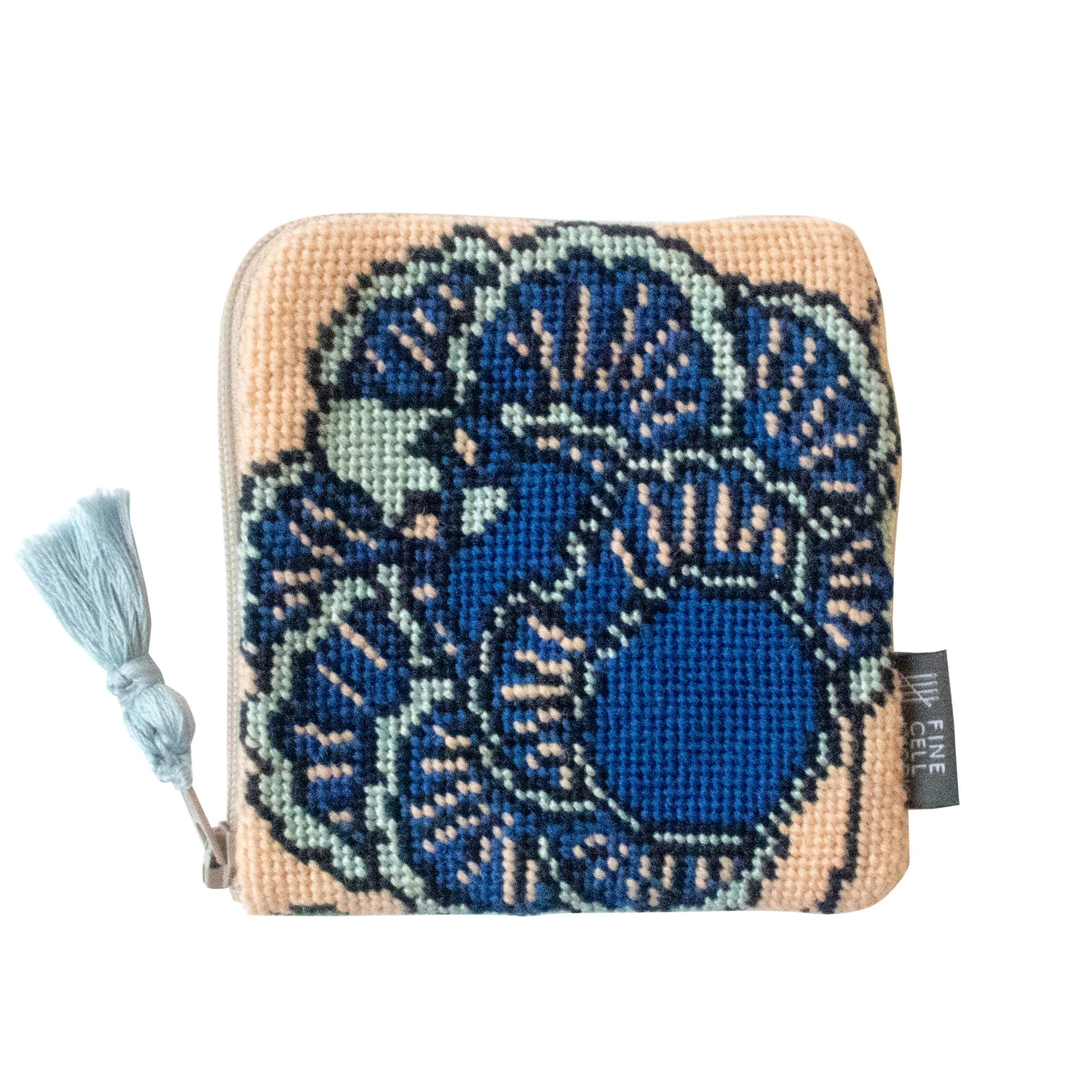 Fine Cell Work Neisha Crosland Tango Purse Hyacinth Blue