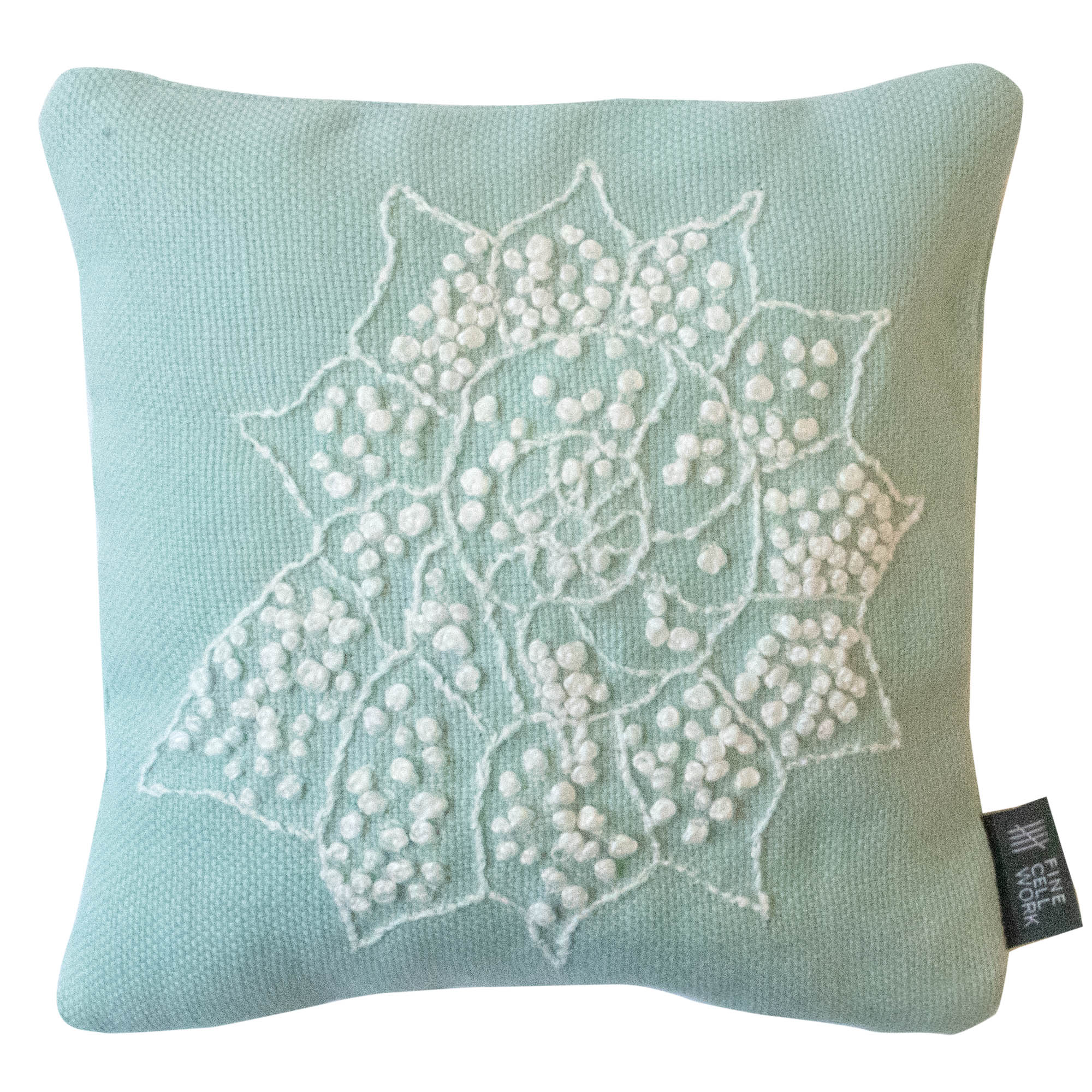 Fine Cell Work Melissa Wyndham Shell Star Hand Embroidered Lavender Bag Aqua