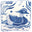 De Morgan Blue Duck Needlepoint Cushion Kit (Right Facing)