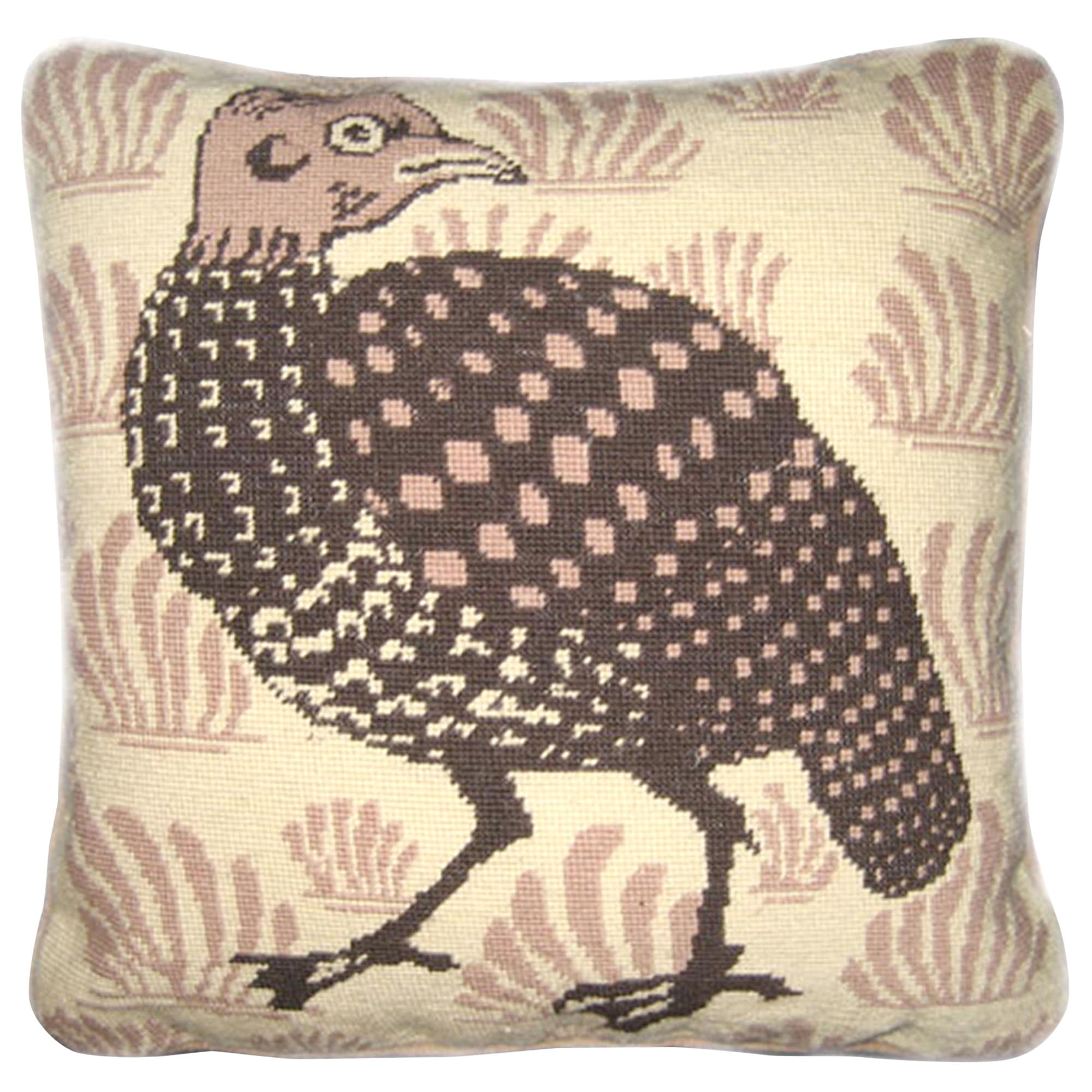 Fine Cell Work William De Morgan Grouse Needlepoint Cushion Kit