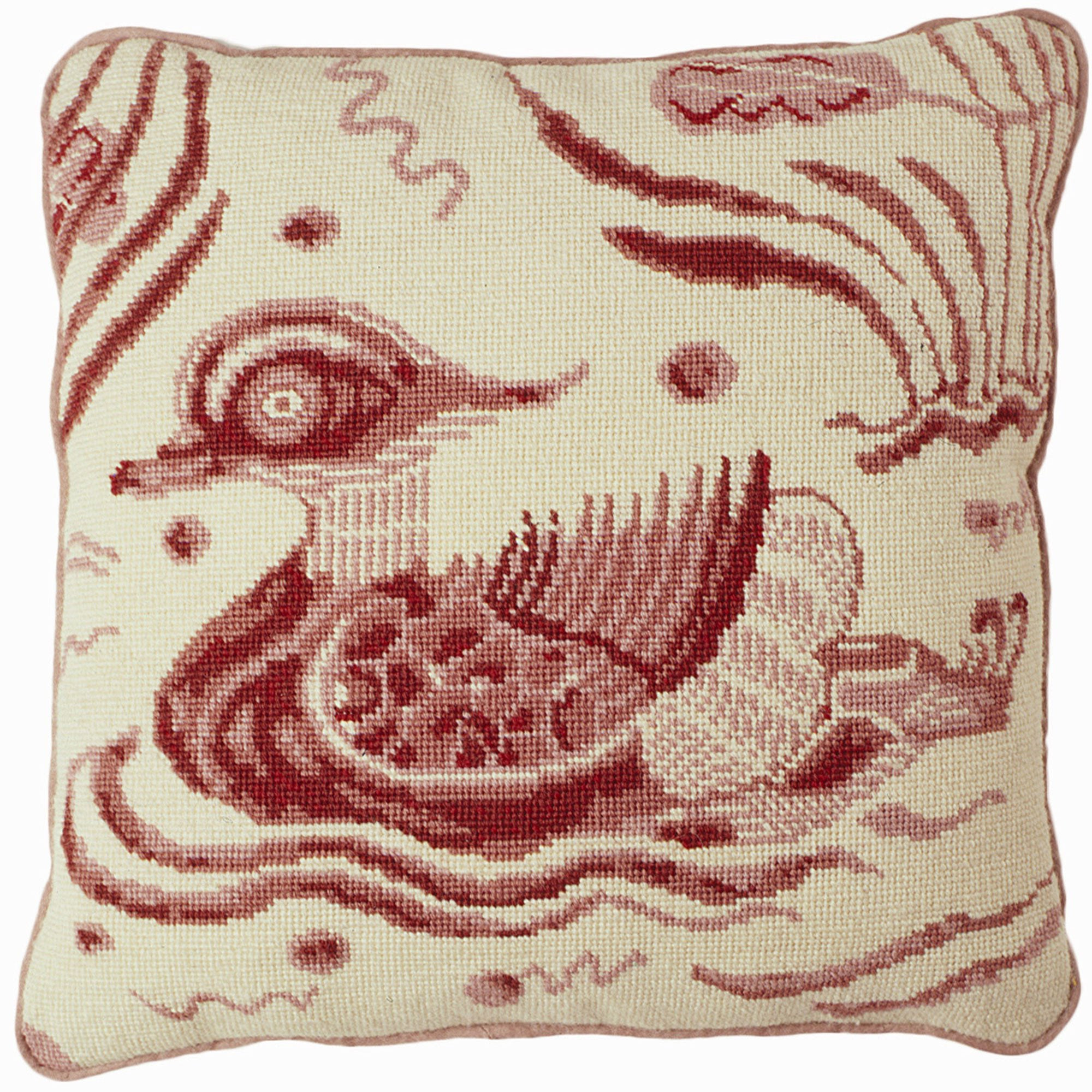 Fine Cell Work William De Morgan Pink Duck Needlepoint Cushion Kit