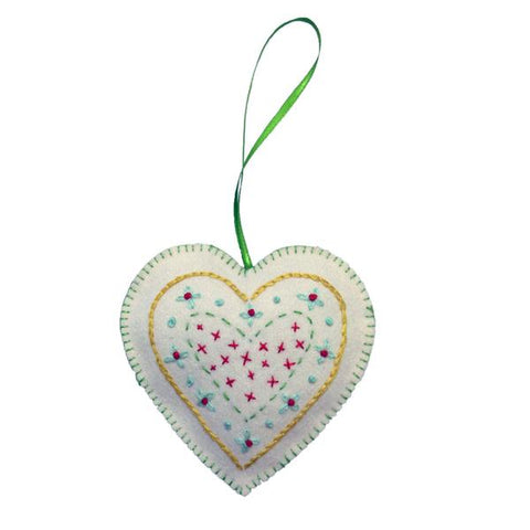 Handmade Green Hanging Heart