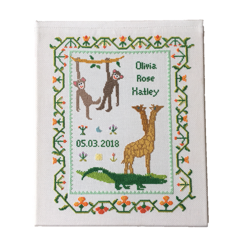 Noah's Ark - Crocodiles & Naughty Monkeys Wall Hanging