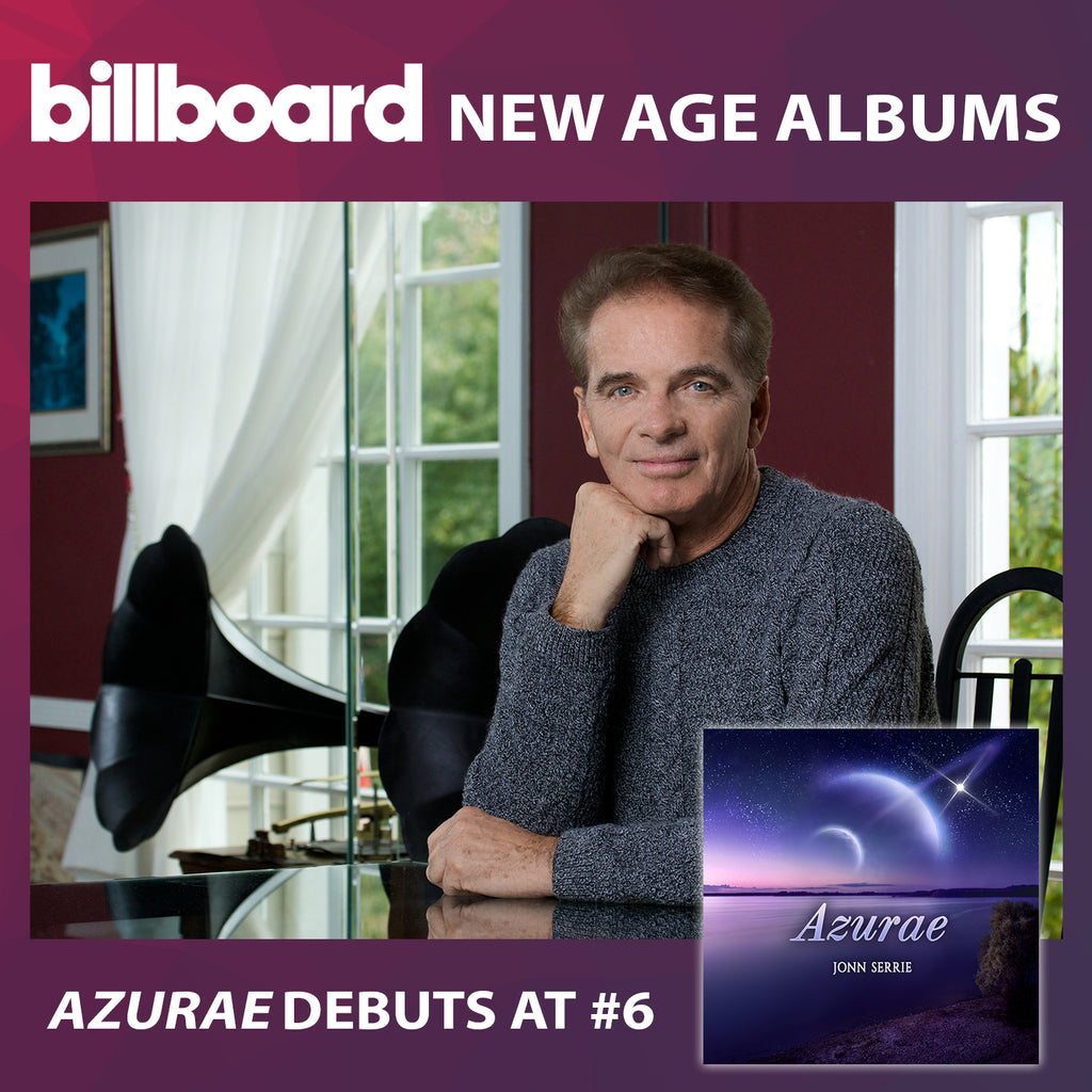 "Jonn Serrie's ""Azurae"" Debuts on the Billboard New Age Albums Chart"