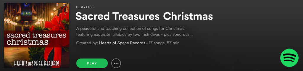 Sacred Treasures Christmas | Spotify Playlist