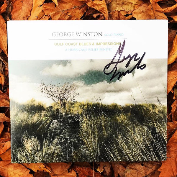 George Winston - Gulf Coast Blues & Impressions: A Hurricane Relief Benefit Autographed CD